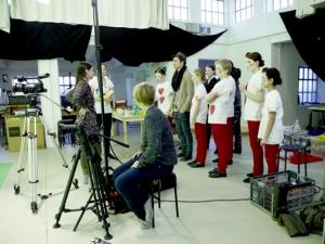 Hamburg Musical Company  Video-Dreh zu Alice im Wunderland 03  Backstage - Blick hinter die Kulissen