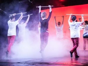 Hamburg Musical Company show 2013-10 Spielkarten-Tanz aus Alice im Wunderland